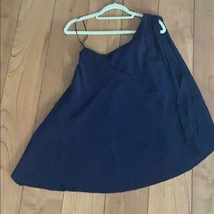 Trina Truck silk blouse in navy blue